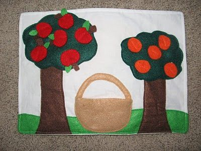Quiet Book Page: Apple Orchard