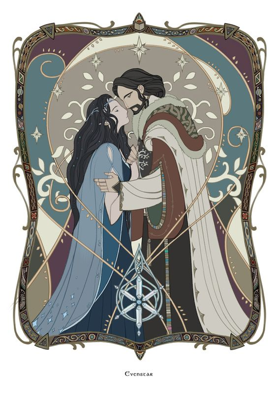 Evenstar (a jewel which Arwen gives to her love Aragorn) [Eälindalë by wavesheep]