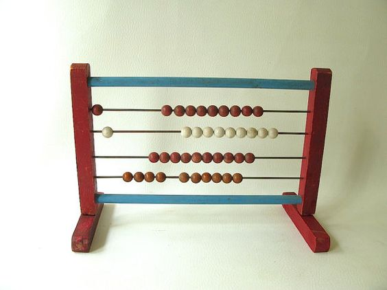 Vintage Abacus Toy wood learning educational by PassedBy on Etsy