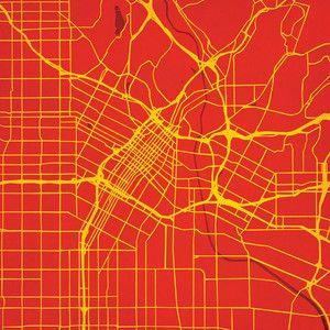 Los Angeles California Print - City Prints Map Art