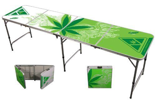"""8ft Portable Folding Beer Pong / Flip Cup Table (6 balls included) """"Greens"""" by PONG360. $72.99. This is the best value for a beer pong table on the market. Great quality, great price, and great portability. Keep one in your trunk so you can be ready for any occasion!. Save 44%!"""