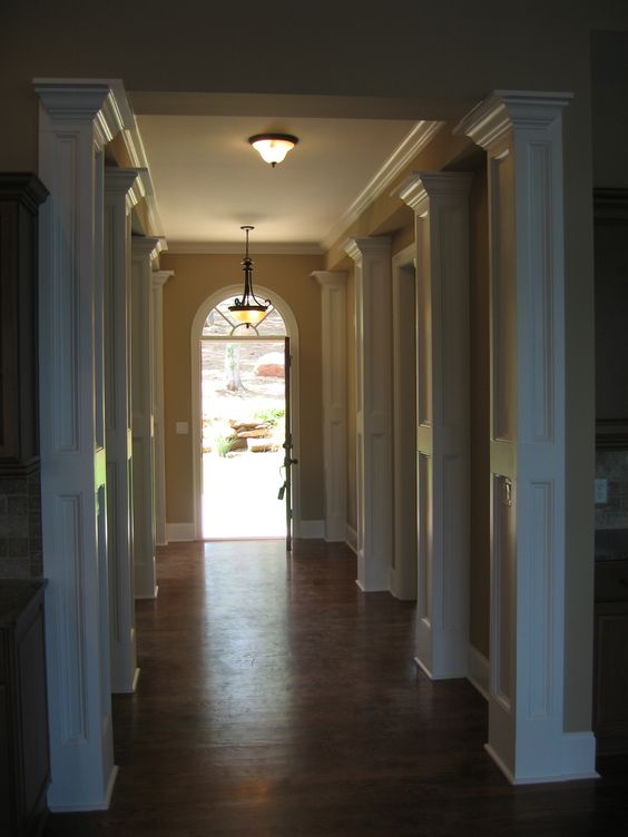 hallway!! Love all the details