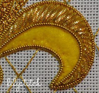 LilyStitch: M.R.'s Fluer - Gold Threads: Bright Check Purl