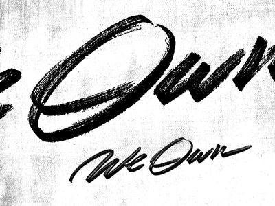 We Own logo by Sam Kaufman #typography
