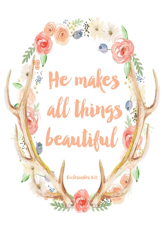 He Makes All Things Beautiful free printable #bHomeApp: