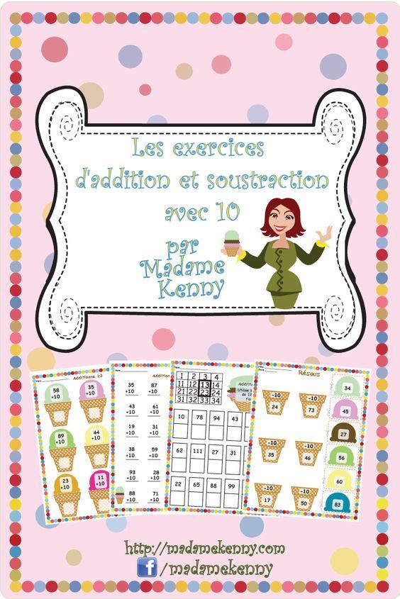math worksheet : french math worksheets les exercises d addition et soustraction  : French Math Worksheets