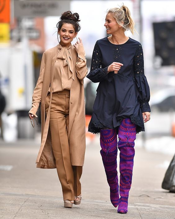 Niki Taylor and Danielle Campbell seen during fashion week in NYC