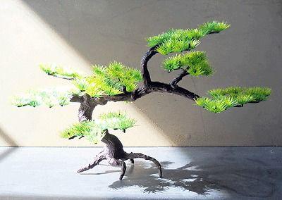 décoration aquarium bonsai