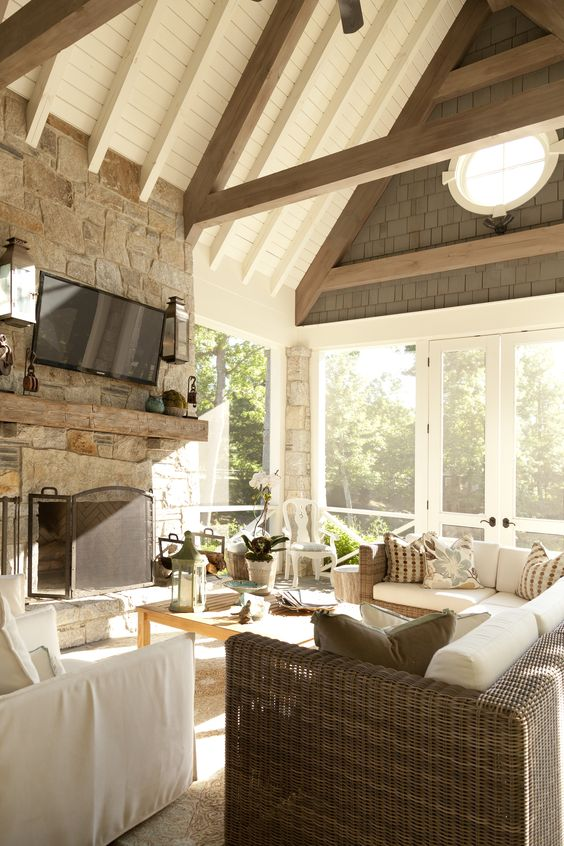 Porch Fireplace Design Ideas, Pictures, Remodel, And Decor   Page 2 |  Porches | Pinterest | Porch Fireplace, Fireplace Design And Porch