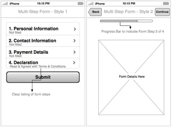 Multi-step form patterns #usability #mobileapp d e s i g n - financial declaration form