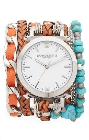 fun bohemian wrap watch in turquoise