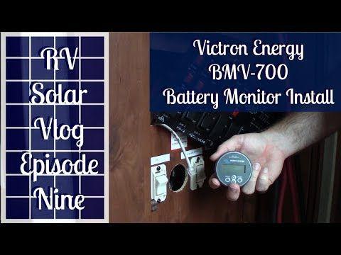 Victron Energy Battery Monitor Aims Inverter Remote Install Solar Vlog E9 Full Time Rv Living Youtube Full Time Rv Rv Rv Solar