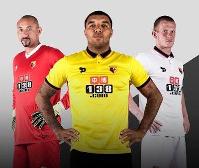 Watford FC et son Nouveau Maillot de foot fournisseur Dryworld dévoilé officiellement nouveaux kits à domicile et à l'extérieur du club pour la prochaine saison de Premier League 2016-17.