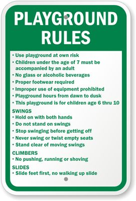 playground rules for preschoolers playground signs playground sign playground 131