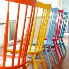 Painted plain chairs