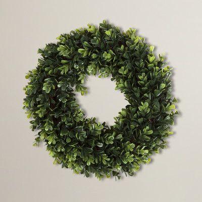 "August Grove Eola Artificial 14"" Plastic Wreath & Reviews   Wayfair"