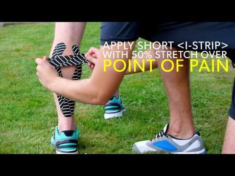 Easy CALF PAIN Kinesiology Taping Application - YouTube