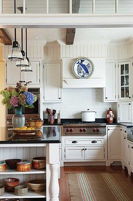 blue and white and beadboard