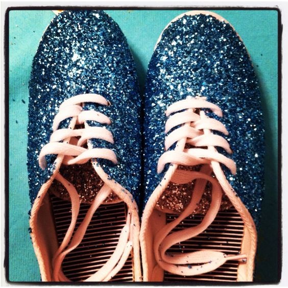 DIY glitter shoes ain't nobody got time for that