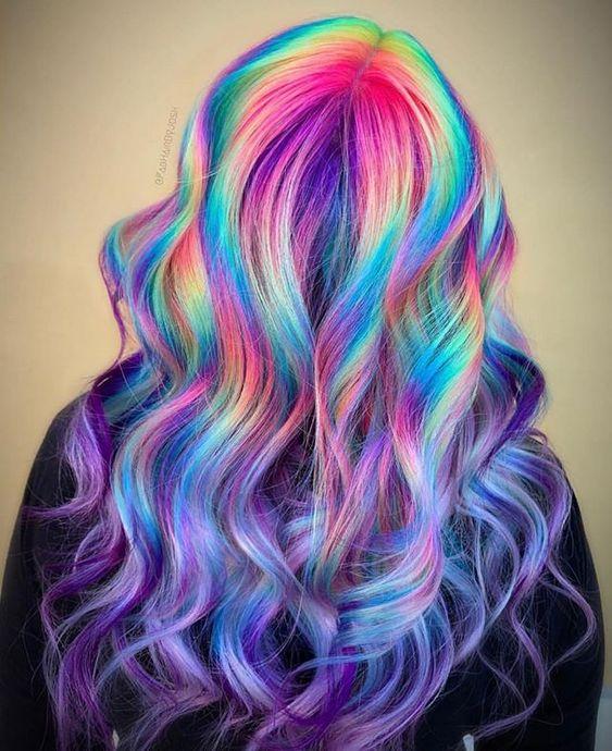 rainbow hair color