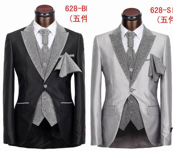 New Fashion Five Pieces Slim Fit Tuxedo Suit High-Grade Top Brand