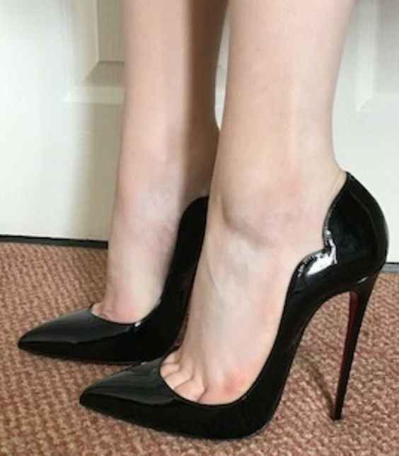 Womens Patent Leather Stiletto Heel Pointed Toe Party Super High Heel Shoes Size