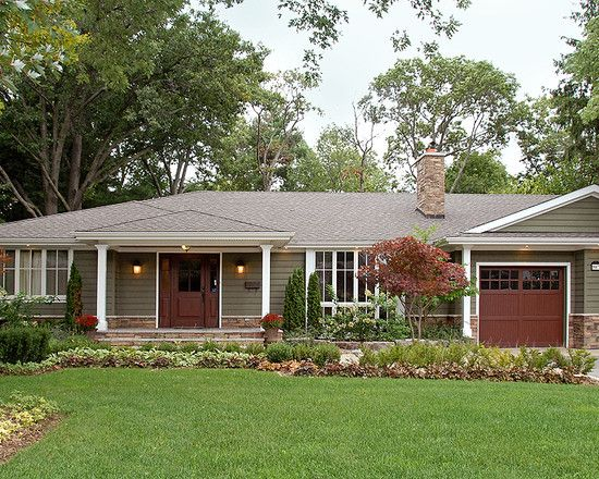Ranch exterior design pictures remodel decor and ideas for 70s house exterior makeover