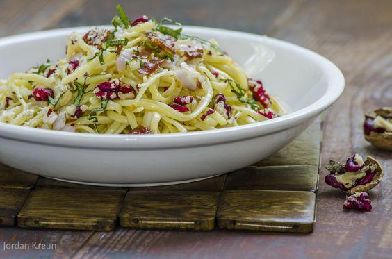Red Walnut and Prosciutto Linguine: Red Walnuts, Rice Dishes, Prosciutto Linguine