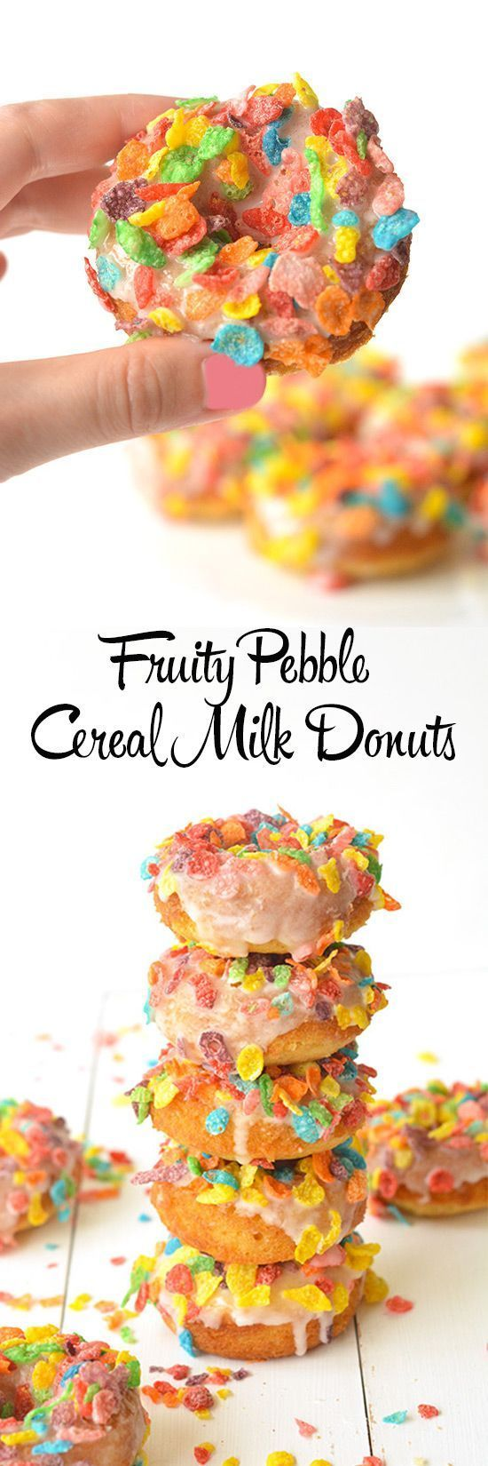 Fruity Pebble Cereal Milk Donuts | Sweetest Menu
