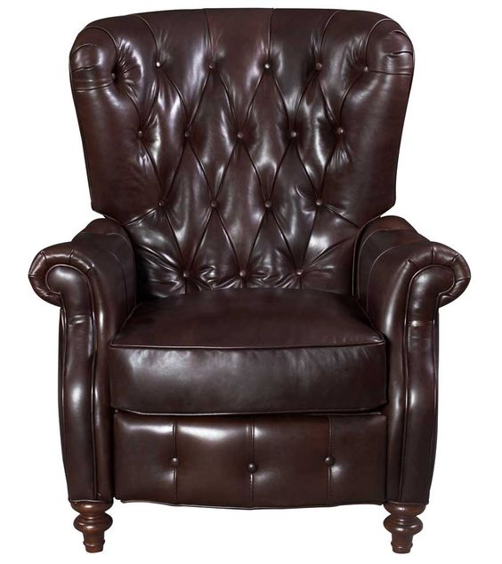 Magnus Leather Recliner - Fabric / Colour: Cathedral Ale (Dark Brown) - Leather Recliners
