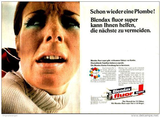Original-Werbung/ Anzeige 1969 - 2 x 1/1 SEITE / DOPPELSEITE BLENDAX FLUOR SUPER ZAHNCREME  - ca. 260 x 200 mm