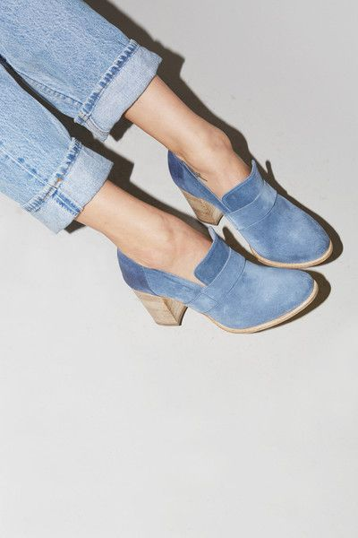 No.6 Stacked Heel Loafer in Boemia / Jeans: