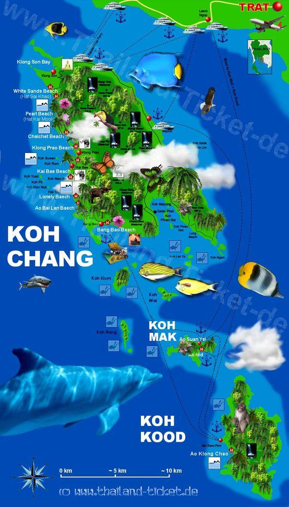 Koh Chang Sehenswürdigkeiten / Strände: Ein Guide über die schönsten Strände u.Attraktionen auf der Insel Koh Chang in Thailand + Hotel Tipps u. Unterkünfte: