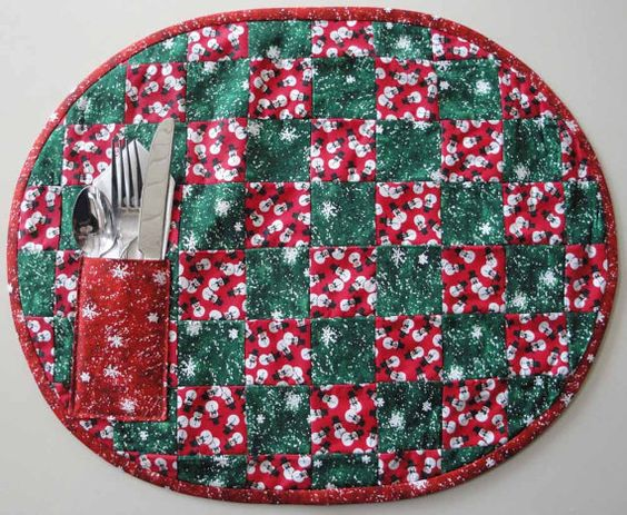 Sale  Set of 4 quilted placemats  Christmas / by lindamoorecrafts, $18.00