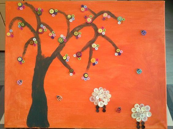 Geschapen bloemenboom