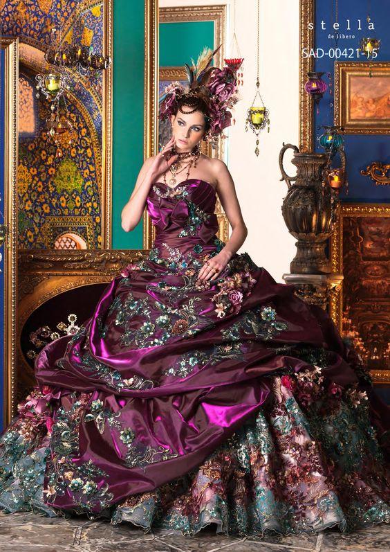 ~ Unique Stella de Libero, gown, couture, wedding, bridal, dress, fantasy, flowers, flower, floral, flora, fairytale, fashion, designer, beautiful, stunning, prom dress, ball gown, ~ http://world-bridal-gallery.com/gallery/stella-de-libero/
