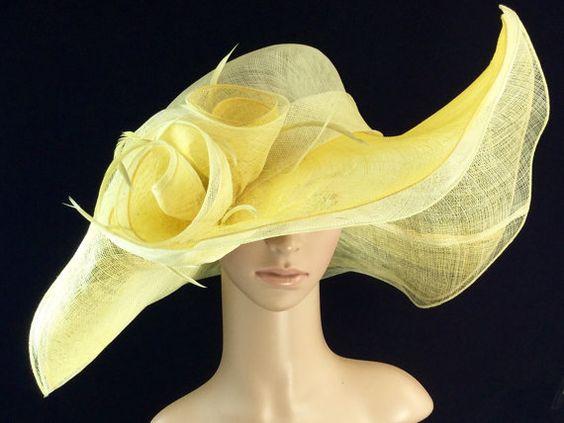 Amarillo Kentucky Derby Hat sombrero de Derby por theoriginaltree