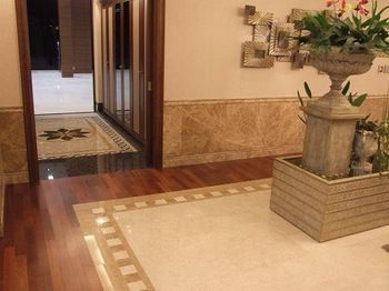 Easystone Marble Tile Mixed With Wood Flooring Floors