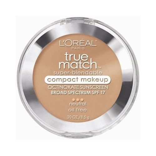 L'oreal True Match Super-blendable Compact Makeup, SPF 17, Honey Beige, 0.30-Ounce #makeup #beauty #makeupkits #makeupkit #beautiful