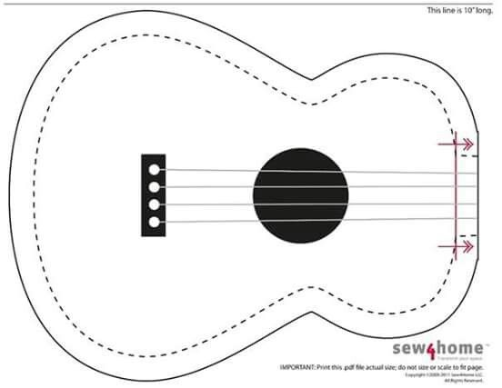Posts felt and cards on pinterest for Guitar cut out template