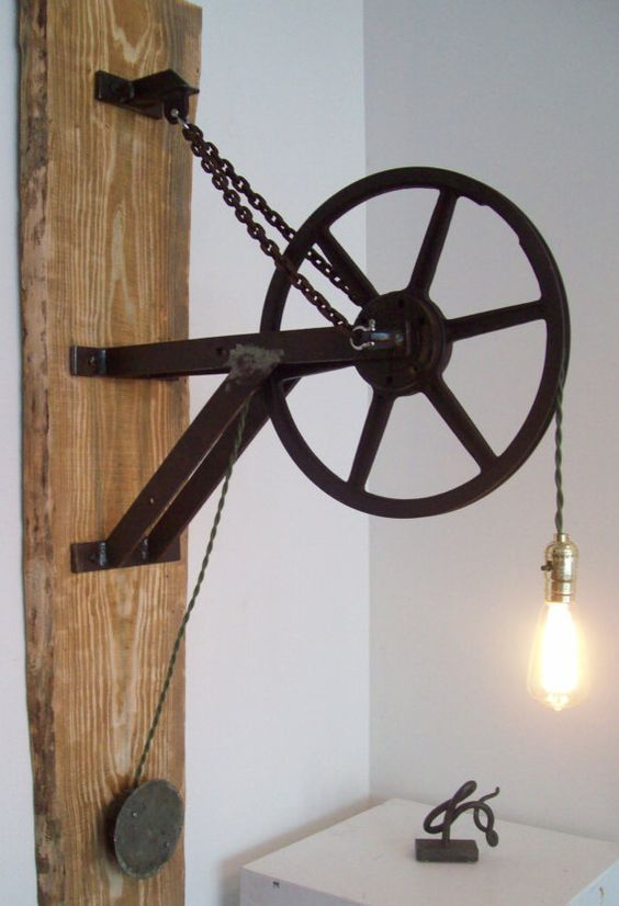 Pulley light, Pulley and Light walls on Pinterest