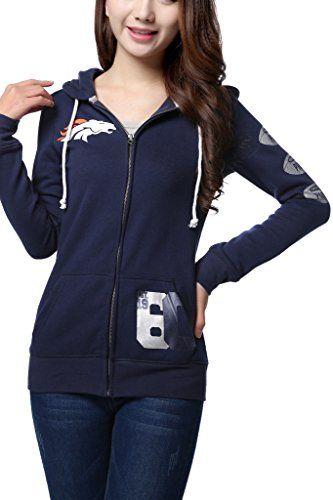 Women's Pink Victoria's Secret NFL Denver Broncos Hoodie…