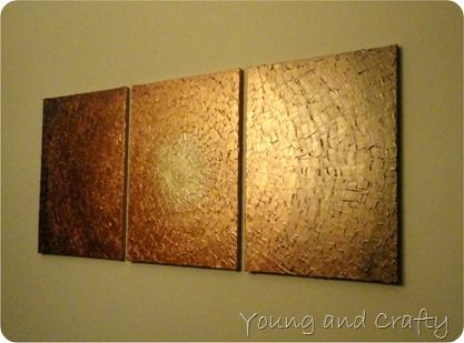 Diy tutorial plaster paint wall art on canvases has for Plaster wall art