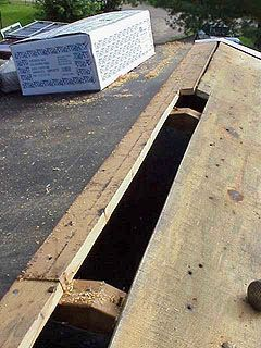 Roof Vent Hole Does Not Reach The End Of The Roof Ridge Vent Roof Repair Diy Roof