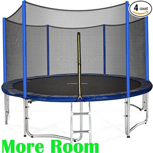 Zupapa 15 14 12 Ft Tuv Approved Trampoline With Enclosure Net And Pole And Safety Pad And Ladder And Jumping Mat Trampoline Best Trampoline Backyard Trampoline