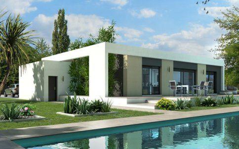 Plan maison toit plat Jade maison moderne Pinterest