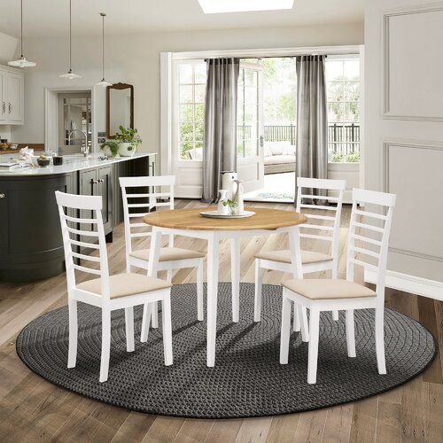 Mcneill Extendable Dining Set With 4 Chairs Brambly Cottage Colour