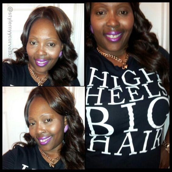 Natural Girls Rock Tshirt High heels big hair