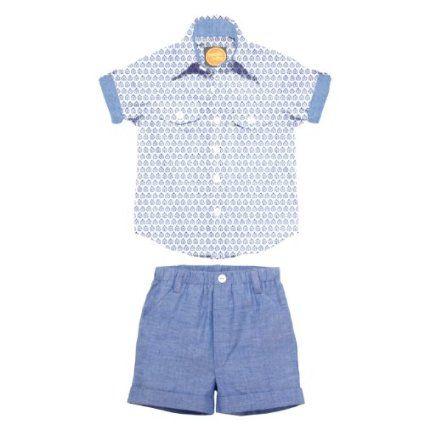 Masala Baby Boys Infant Player Leaf Butti 2 Piece Set $44.00