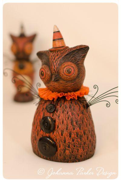 Owl-Pair - Johanna Parker Design - Original Owl Folk Art - http://www.johannaparkerdesign.blogspot.com: